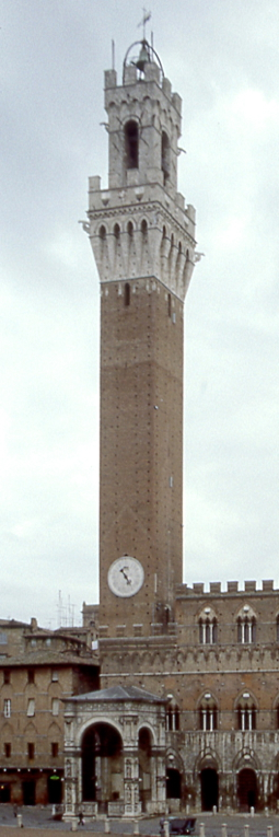 Torre di Mangia, Siena (1985), by David W. Dunlap.