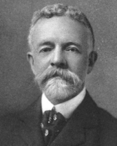 "Sen. Henry Cabot Lodge. From ""The Pilgrims and Their Monument"" (D. Appleton & Company, 1911)."