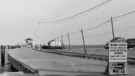MacMillan Wharf , Provincetown (1956). Scrapbooks of Althea Boxell: Book 5, Page 83. Courtesy of the Provincetown History Preservation Project (Dowd Collection).