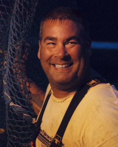 Wayne Martin aboard the Blue Skies, Provincetown (2011), by David W. Dunlap.