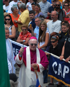 Bishop George W. Coleman of Fall River, Blessing of the Fleet, Provincetown (2011), by David W. Dunlap.