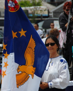 Flag of the Azores, Blessing of the Fleet, Provincetown (2011), by David W. Dunlap.