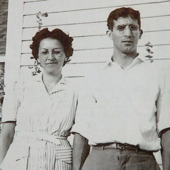 "Jessica and Joseph Lema From ""Nana and Poppy: A Provincetown Love Story,"" by Jessica Grace Lema and Jessica Lema Clark. Courtesy of Jessica Lema Clark and Elizabeth Lema Perrillo."