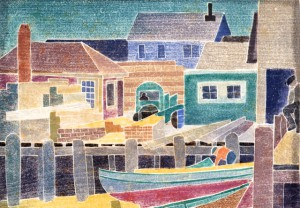 "Blanche Lazzell's ""The Lumber Wharf"" (1929), from the Provincetown History Preservation Project."