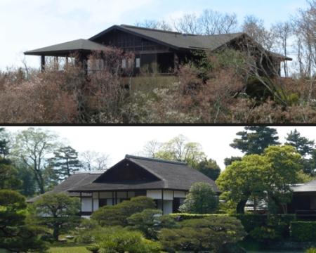 "Top: 11 Oppen Lane, Provincetown (2013), by David W. Dunlap. Bottom:  Detail of ""Katsura Imperial Villa in Spring,"" by John Chang (2008).  Wikipedia."