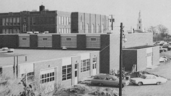 New gymnasium and vocational school. Long Pointer 1964. Courtesy of the Provincetown History Preservation Project.