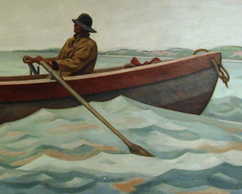 Mural by John W. Beauchamp and Frederick C. Fuglister, 12 Winslow Street, Provincetown (2010), by David W. Dunlap.