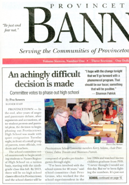 The Provincetown Banner, 28 April 2010.