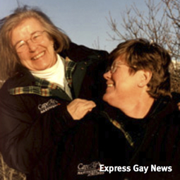 Gwen Bloomingdale and Barbara Gard. The Express, Florida's Leading Lesbian and Gay Community Newspaper.