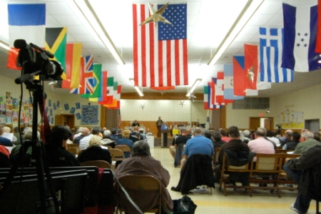 Town Meeting, 2 Mayflower Lane, Provincetown (2010), by David W. Dunlap.