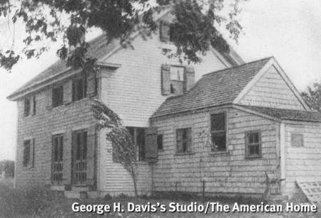 200 Bradford Street before the Millers' additions (George H. Davis's Studio, 1937), from The American Home, January 1937