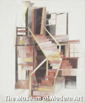 """Stairs, Provincetown,"" by Charles Demuth (1920). Watercolor and pencil on board. Gift of Abby Aldrich Rockefeller. MoMA No. 59.1935. The Museum of Modern Art."