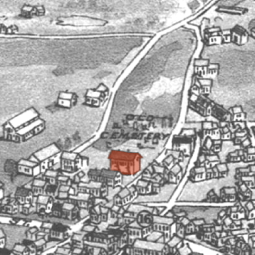 """Adapted from """"Provincetown, Mass."""" bird's-eye view (1910), by George H. Walker. Norman B. Leventhal Map Center at the Boston Public Library. Call Number G3764.P78A3 1910. W3."""
