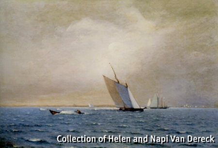 """""""Rose Dorothea, Winner of the Lipton Cup"""" (1907), by William F. Halsall. Collection of Helen and Napi Van Dereck. From """"The Tides of Provincetown: Pivotal Years in America's Oldest Continuous Art Colony, 1899-2011,"""" New Britain Museum of American Art."""