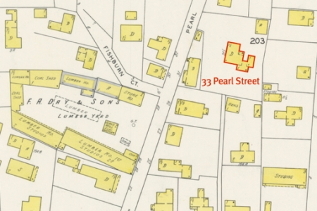 33 Pearl Street, Provincetown (1929). 1929 Sanborn Map. Town of Provincetown.