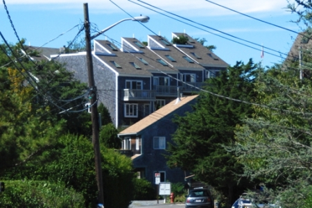 38 Creek Road in foreground, Provincetown (2012), by David W. Dunlap.