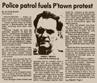 The Cape Cod Times, 19 August 1986. Courtesy of the Provincetown History Preservation Project.