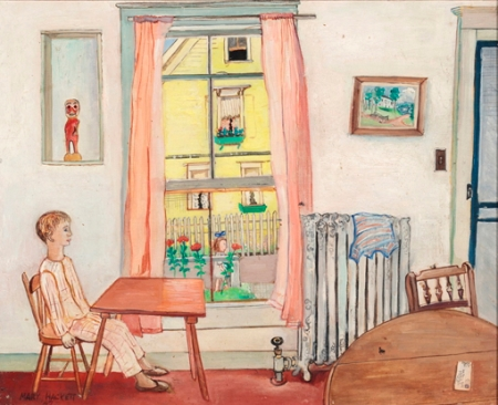 """Untitled (Nickerson Street Interior, Chauncey),"" by Mary Hackett (1947). Provincetown Art Association and Museum 2013 Spring Consignment Auction and Estate Sale."