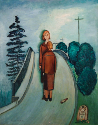 """""""The Big Me Standing in My Way,"""" by Mary Hackett (1950). Collection of and courtesy of Jay Critchley."""