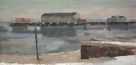"""""""Gray Day,"""" by Bruce McKain. Collection of Helen and Napi Van Dereck. Courtesy of Helen and Napi Van Dereck."""
