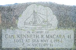 Capt. Kenneth R. Macara headstone, Provincetown (2011), by David W. Dunlap.