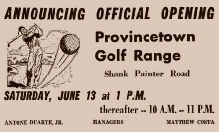 73-89 Shank Painter Road, Provincetown (1959). Advertisement in The Provincetown Advocate, 11 June 1959. From Provincetown Online: The Advocate Live!, by the Provincetown Public Library.
