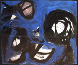 """""""Sleeper - Blue Night,"""" by Fritz Bultman. From """"Provincetown and Beyond: The Collection of John Raimondi,"""" at the Provincetown Art Association and Museum."""