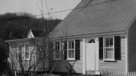 8 West Vine Street, Provincetown (1976)by Josephine Del Deo. Massachusetts Historical Commission Inventory, 1973-1977: Provincetown's West End. Courtesy of the Provincetown Public Library.