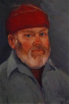 Charles Westcott, painting by Carol Whorf Westcott, 8 West Vine Street, Provincetown (2011), by David W. Dunlap.