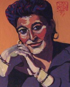 Portrait of Deb Silva by Dan Rupe, 85-87 Shank Painter Road, Provincetown (2008).