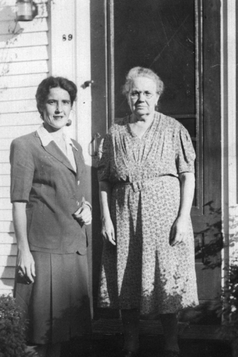 Grace Gouveia, left, and Barbara Gouveia, 89 Bradford Street, Provincetown (ND). Courtesy of Susan Leonard.