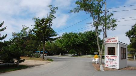76R Bayberry Avenue, entrance to Coastal Acres Camping Court, by David W. Dunlap (2008).