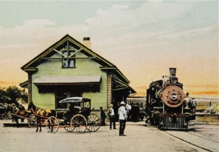 132 Bradford Street, Old Colony Railroad passenger depot, courtesy of the Pilgrim Monument and Provincetown Museum.