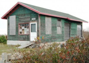 365 Old King's Highway, North Truro, Old Colony Railroad freight depot from 132 Bradford Street, by David W. Dunlap (2011).