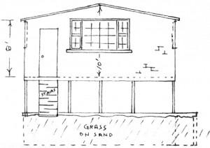 Herman Maril's plan for his studio addition at 256 Bradford Street.