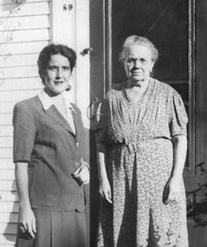 Grace Gouveia and Mary Goveia, 89 Bradford Street, courtesy of Susan Leonard.
