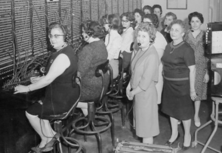 100 Bradford Street, New England Telephone and Telegraph Company central switchboard, courtesy of Duane Steele and Mary-Jo Avellar.