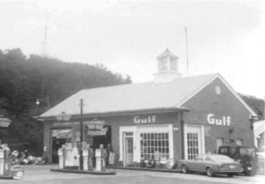 130 Bradford Street, Gulf Oil station, courtesy of the Provincetown History Preservation Project (1977).