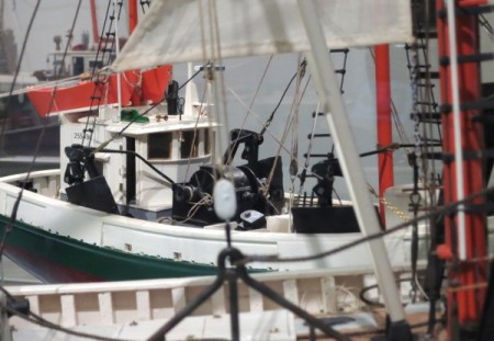 """Alfred Silva Sr.'s models in the 2013 """"Fleet's In"""" show at the Provincetown Museum, by David W. Dunlap."""