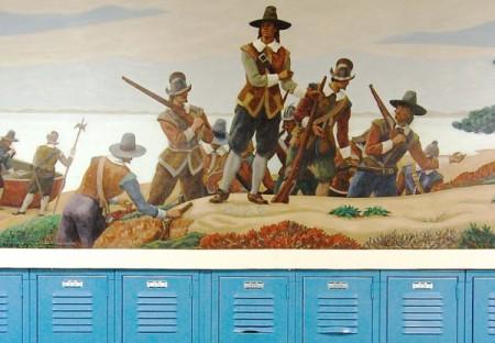 12 Winslow Street, Ross Moffett murals, by David W. Dunlap (2010).