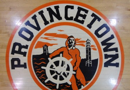 12 Winslow Street, gymnasium floor (the teams were called Fishermen), by David W. Dunlap (2010).