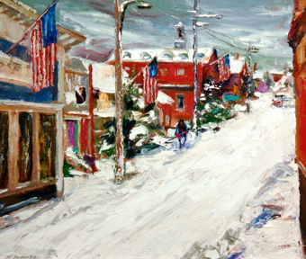Painting by Nancy Whorf. Courtesy of the Seamen's Bank.