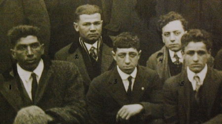 Frank Silva, William Marshall, Frank Meads, Bill Cabral and Frank Fratus, Provincetown (1917).