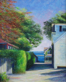 """""""Dyer Street,"""" by Chuck Anzalone. Represented by the Lyman-Eyer Gallery."""