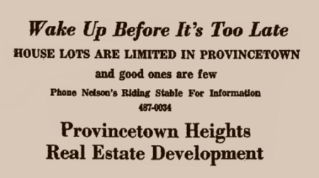 Advertisement in The Provincetown Advocate, 5 October 1967. From Provincetown Online: The Advocate Live!, by the Provincetown Public Library.