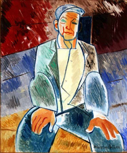 """""""Portuguese Fisherman,"""" by Mary Cecil Allen (ND). Provincetown Art Association and Museum."""
