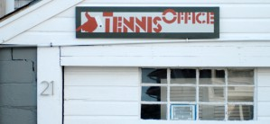 21 Bradford Street Extension, Herring Cove Tennis Club office, now demolished, by David W. Dunlap (2011).