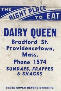 Dairy Queen matchbook, courtesy of Salvador R. Vasques III.