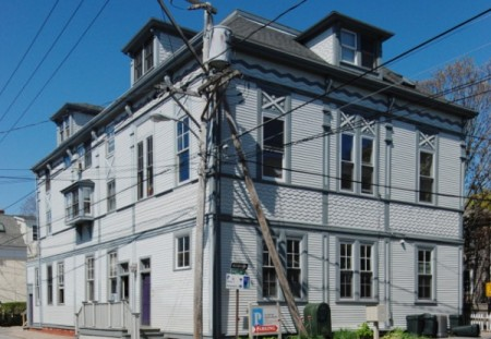 96-98 Bradford Street, AIDS Support Group of Cape Cod, by David W. Dunlap (2008).