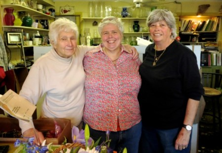 Laura Darsch, Maghi Geary, and Kim Oliver, Provincetown Florist, 136 Bradford Street, by David W. Dunlap (2013).
